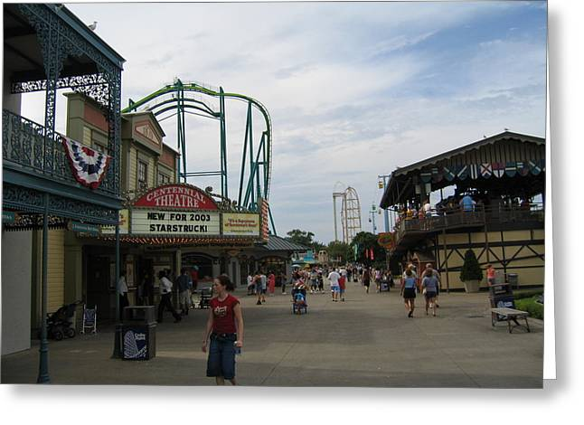 Green Greeting Cards - Cedar Point - Raptor - 12121 Greeting Card by DC Photographer