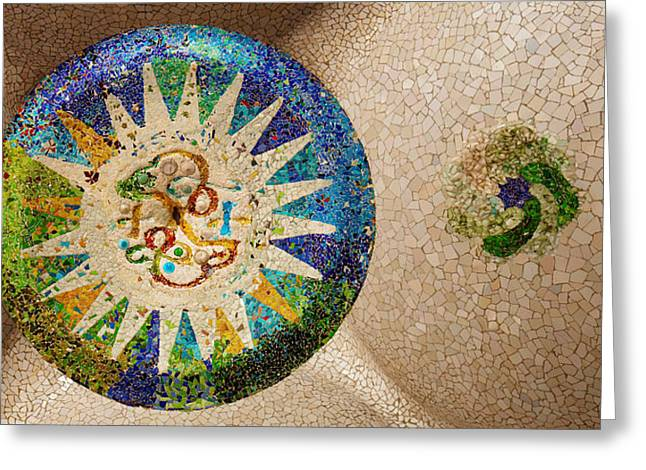 Featured Art Greeting Cards - Ceiling Detail Of The Hall Of Columns Greeting Card by Panoramic Images
