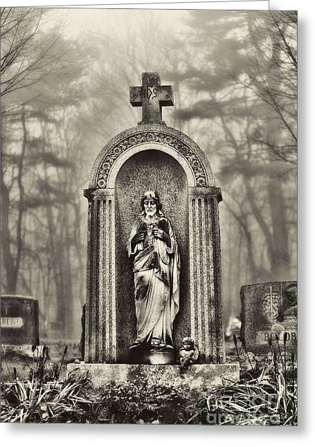 Cemetery Greeting Cards - Cemetery Greeting Card by HD Connelly