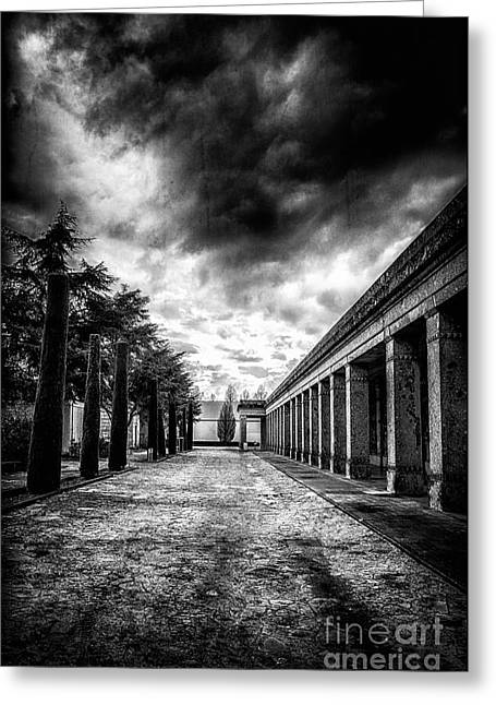 Place Of Burial Greeting Cards - Cemetery of Mantova  Greeting Card by Traven Milovich