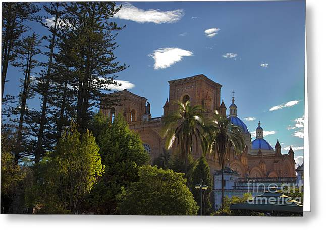 Al Central Greeting Cards - Central Cuenca Ecuador Greeting Card by Al Bourassa