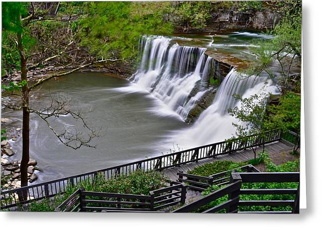 Recently Sold -  - Surreal Landscape Greeting Cards - Chagrin Falls Ohio Greeting Card by Frozen in Time Fine Art Photography