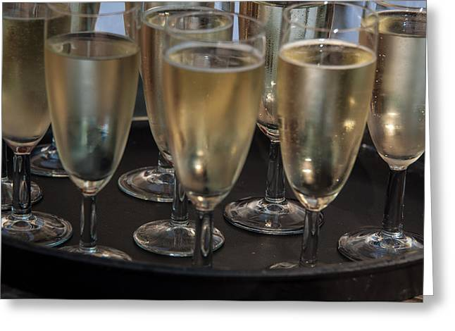 Champagne Flutes Greeting Card by Frank Gaertner