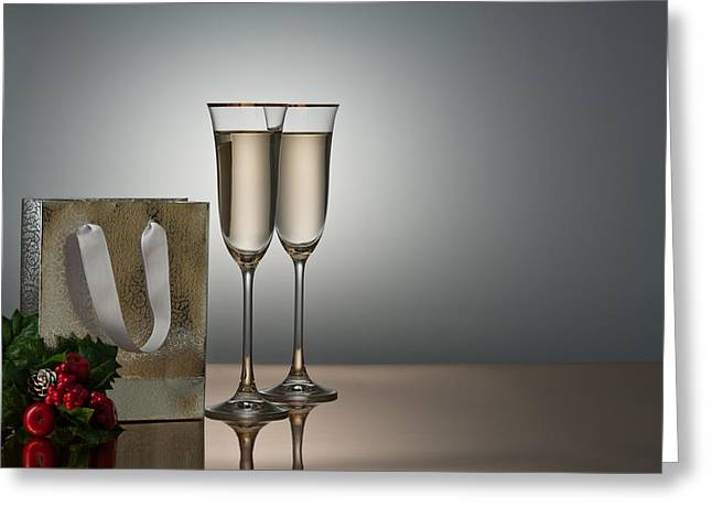 Sparkling Wine Greeting Cards - Champagne Greeting Card by Ulrich Schade