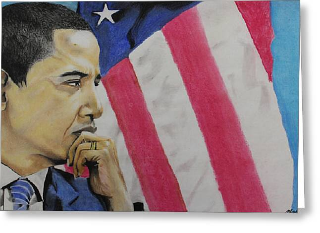 President Pastels Greeting Cards - Change to believe in Greeting Card by Marvin Ryan