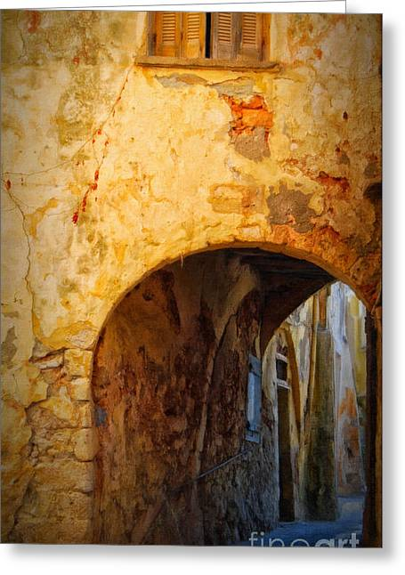 Port Town Digital Art Greeting Cards - Chania alley Greeting Card by Antony McAulay