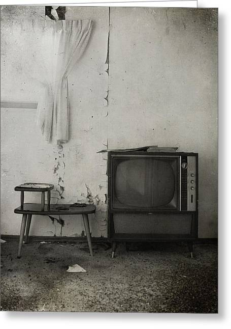 Old Tv Greeting Cards - Channel Thirteen  Greeting Card by Jerry Cordeiro