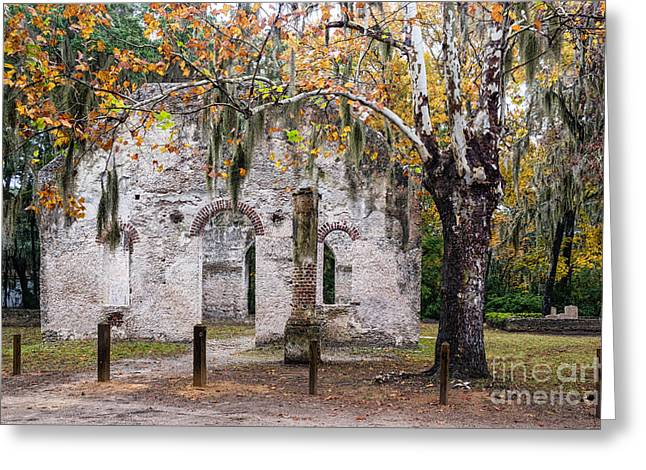 Chapel Of Ease Greeting Cards - Chapel of Ease Ruins St. Helena Island South Carolina Greeting Card by Dawna  Moore Photography