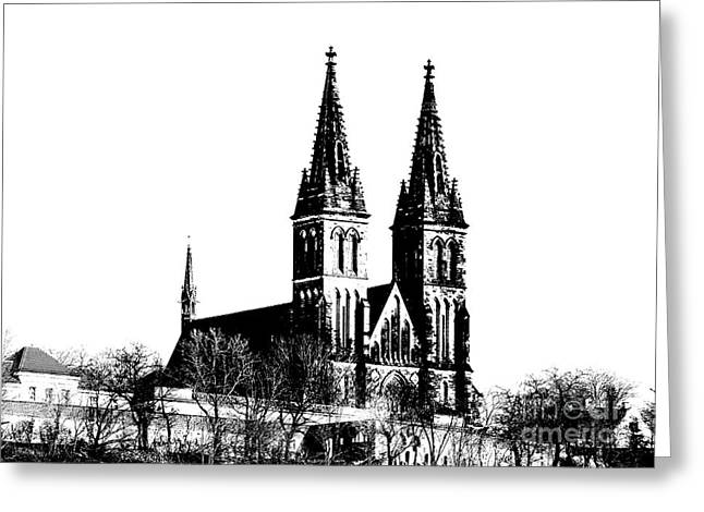 Historic Building Mixed Media Greeting Cards - Chapter Church of St Peter and Paul Greeting Card by Michal Boubin