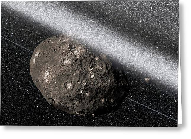 Chariklo Minor Planet And Rings Greeting Card by European Southern Observatory