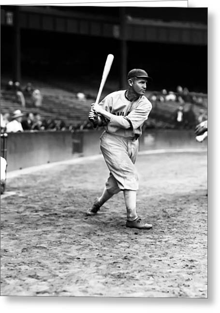 Baseball Art Greeting Cards - Charles A. Art Shires Greeting Card by Retro Images Archive