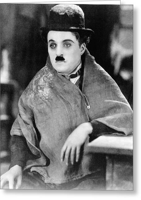 Chaplin Greeting Cards - Charles Chaplin Greeting Card by Silver Screen