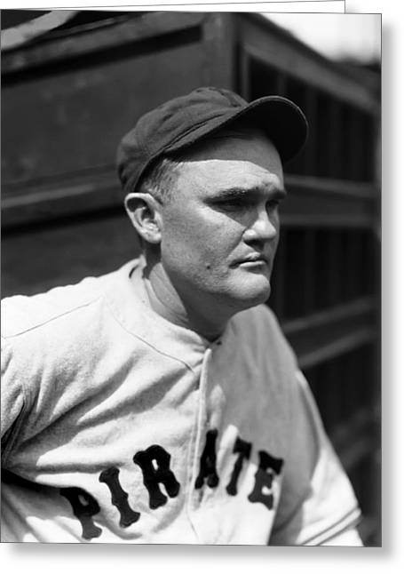 Pittsburgh Pirates Greeting Cards - Charles F. Red Lucas Greeting Card by Retro Images Archive