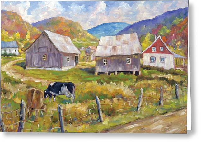 Nature Scene Paintings Greeting Cards - Charlevoix North Greeting Card by Richard T Pranke