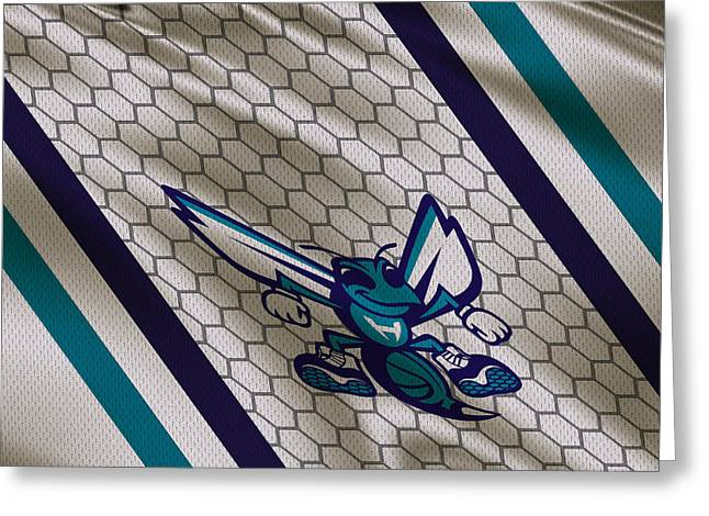 Charlotte Greeting Cards - Charlotte Hornets Uniform Greeting Card by Joe Hamilton