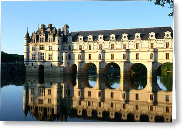 Chateau Greeting Cards - Chateau De Chenonceaux Loire Valley Greeting Card by Panoramic Images