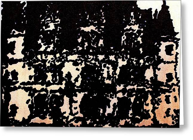 Prague Paintings Greeting Cards - Chateau III Greeting Card by Oscar Penalber