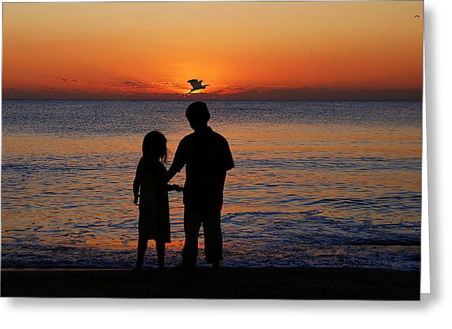 Grand Memories Greeting Cards - Cherish The Moment Greeting Card by John Absher