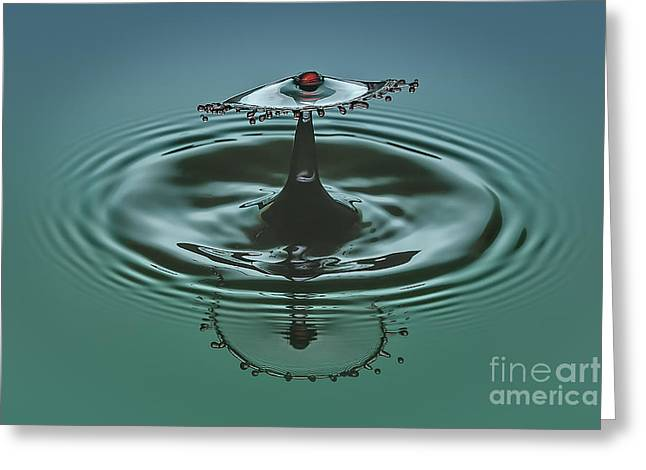 Water Drops Greeting Cards - Cherry On Top Greeting Card by Susan Candelario