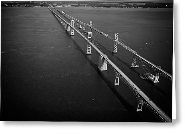 Chesapeake Bay Bridge Greeting Cards - Chesapeake Bay Bridge Greeting Card by Mountain Dreams