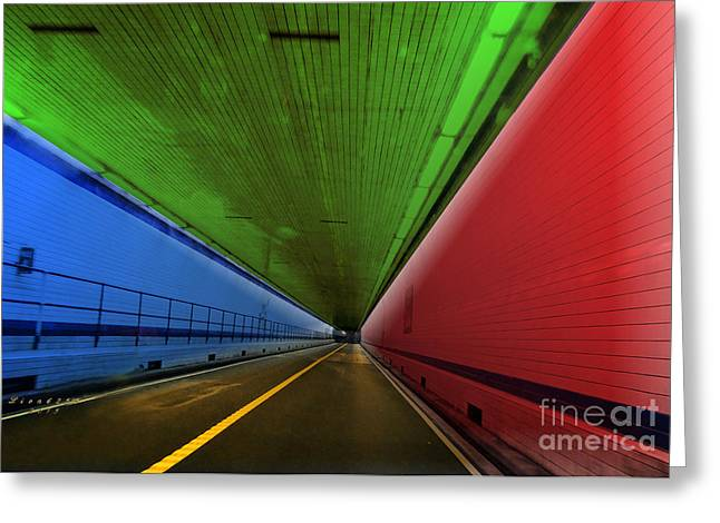 Old Roadway Greeting Cards - Chesapeake Bay Bridge Tunnel Greeting Card by Melissa Messick