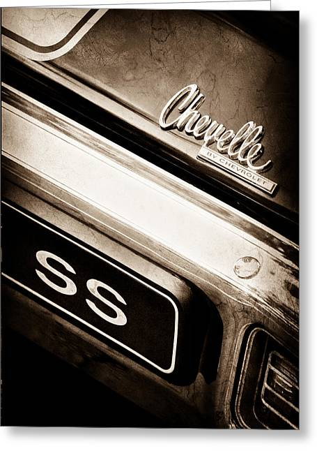 Chevrolet Chevelle Greeting Cards - Chevrolet Chevelle SS Emblem Greeting Card by Jill Reger