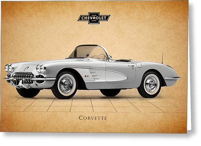 Chevrolet Photographs Greeting Cards - Chevrolet Corvette Greeting Card by Mark Rogan