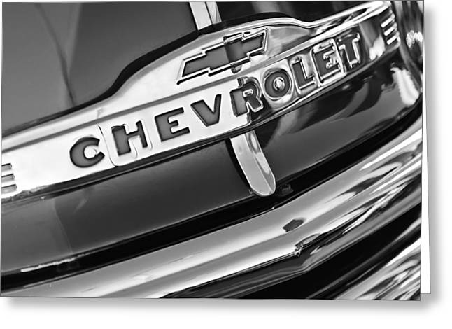 Chevrolet Pickup Truck Greeting Cards - Chevrolet Pickup Truck Grille Emblem Greeting Card by Jill Reger