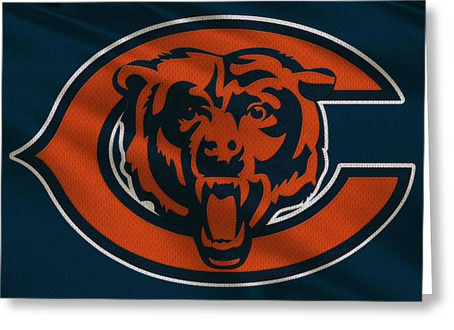 Chicago Bears Uniform Greeting Card by Joe Hamilton