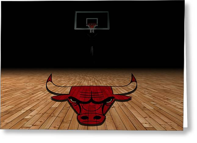 Duke Greeting Cards - Chicago Bulls Greeting Card by Joe Hamilton