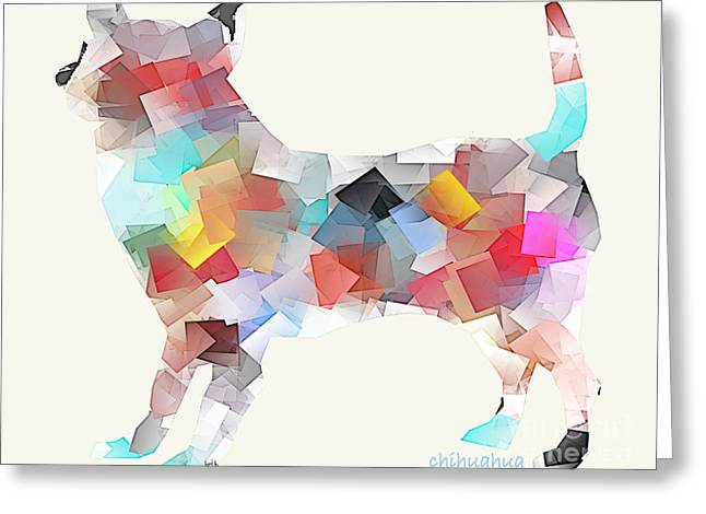Abstract Of Dogs Greeting Cards - Chihuahua Dog Greeting Card by Bri Buckley