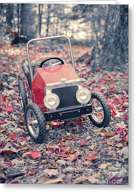 Red Leaves Greeting Cards - Childhood Memories Greeting Card by Edward Fielding