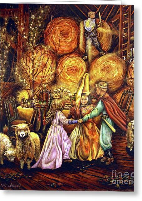 Children's Enchantment Greeting Card by Linda Simon