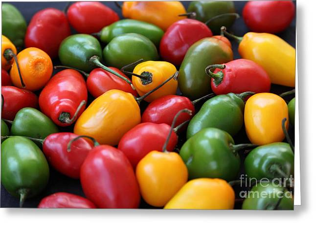 James Brunker Greeting Cards - Chili Peppers Greeting Card by James Brunker