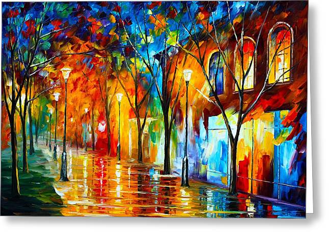 Recently Sold -  - Surreal Landscape Greeting Cards - Chill Energy Greeting Card by Leonid Afremov