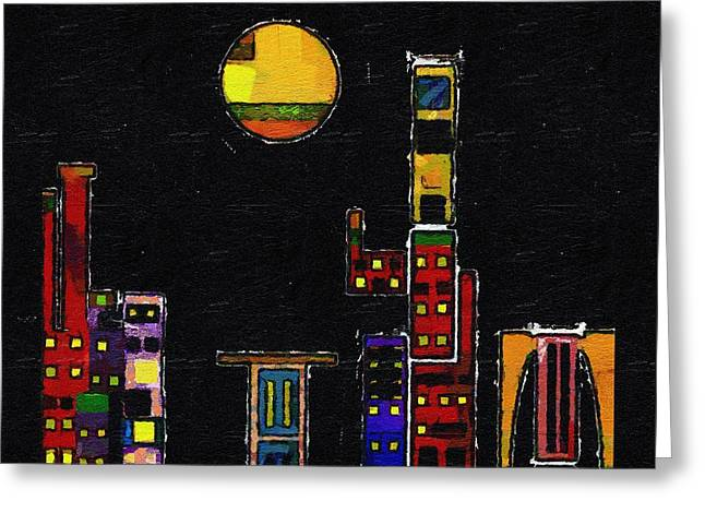 Chinatown Greeting Card by RC deWinter