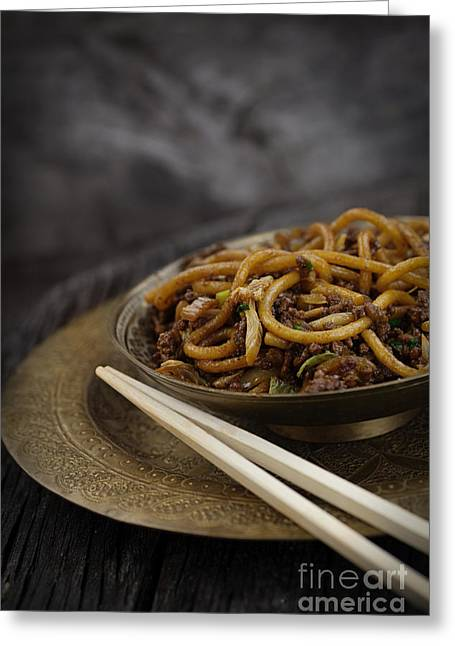 Noodles Greeting Cards - Chinese food Greeting Card by Mythja  Photography