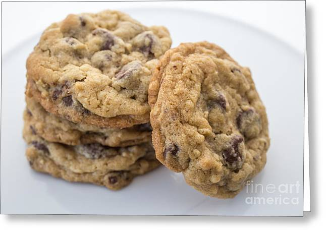 Oatmeal Greeting Cards - Chocolate Chip Cookies Greeting Card by Edward Fielding
