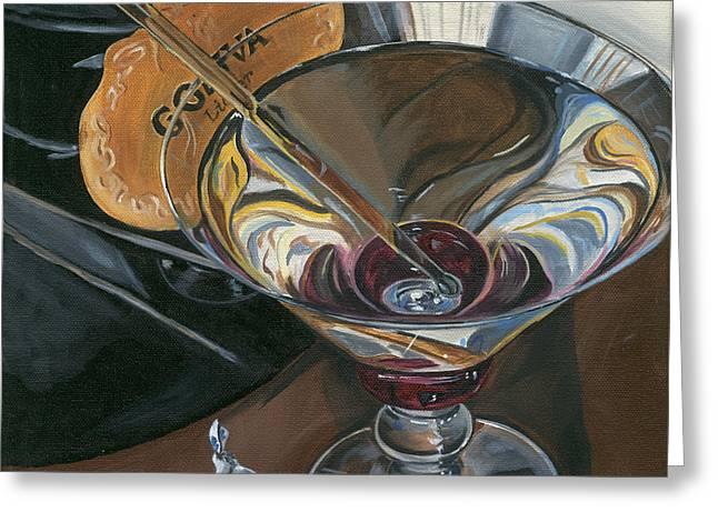 Chocolate Martini Greeting Card by Debbie DeWitt