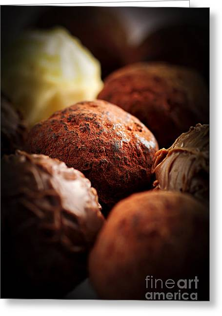 Assorted Greeting Cards - Chocolate truffles Greeting Card by Elena Elisseeva