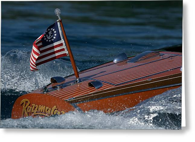 Chris-craft Classic Greeting Card by Steven Lapkin