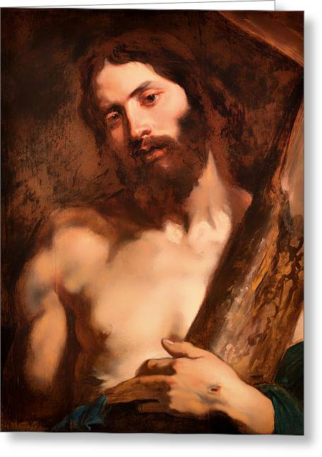 Emotional Pain Greeting Cards - Christ Carrying the Cross Greeting Card by Anthony van Dyck