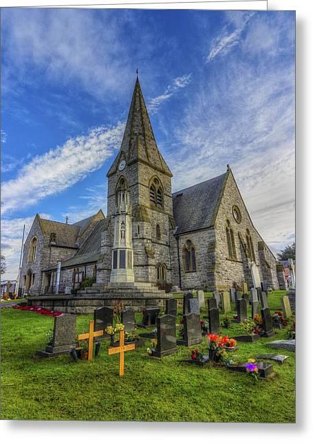 Christ Church Greeting Card by Ian Mitchell