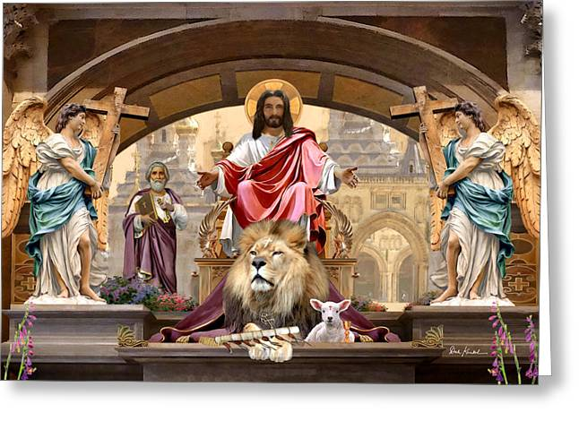 Kingdom Of God Greeting Cards - Zechariah. 8-3 - Kingdom of God Greeting Card by Dale Kunkel Art