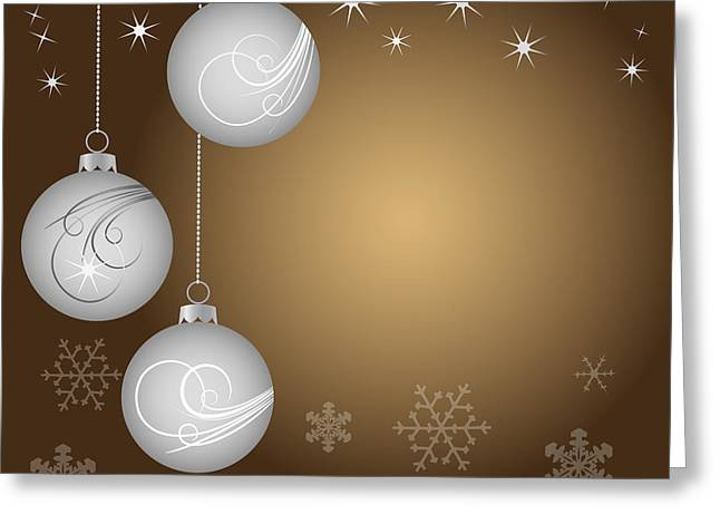 Christmas background Greeting Card by Michal Boubin