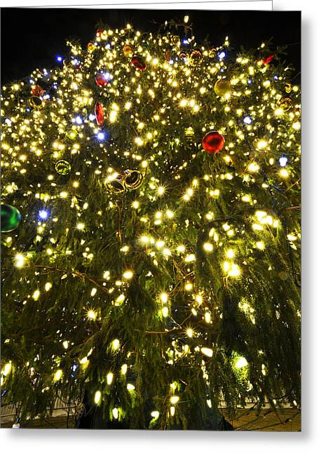 Boston Ma Greeting Cards - Christmas Tree Ornaments Faneuil Hall Tree Boston Greeting Card by Toby McGuire