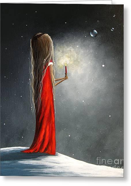 Christmas Candle Greeting Cards - Christmas Candle by Shawna Erback Greeting Card by Shawna Erback