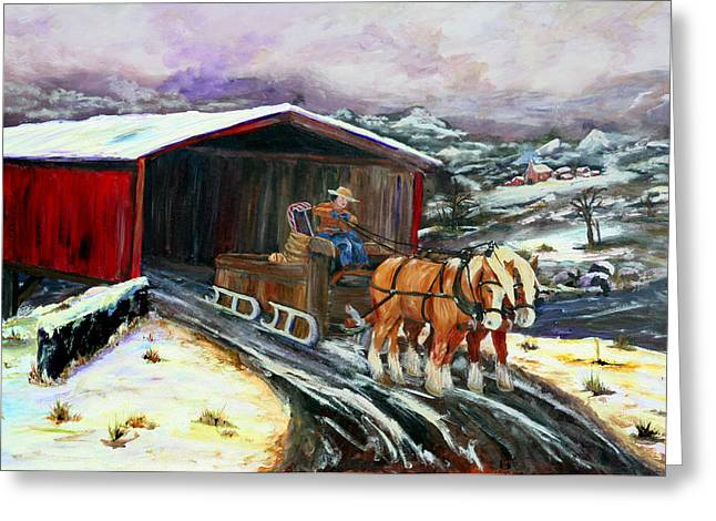 Gail Daley Greeting Cards - Christmas Eve Greeting Card by Gail Daley