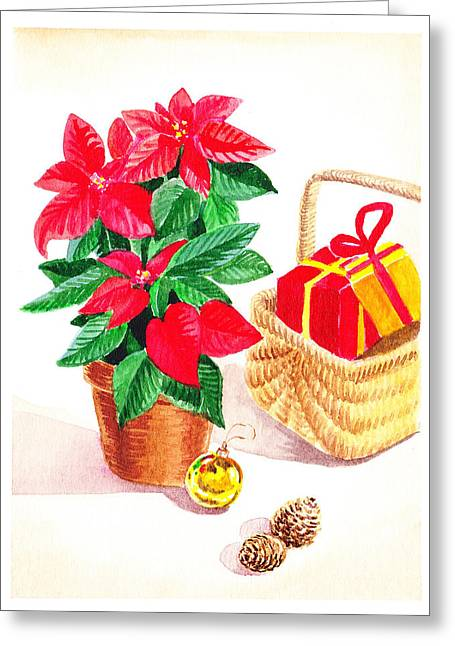 Christmas Art Greeting Cards - Christmas  Greeting Card by Irina Sztukowski
