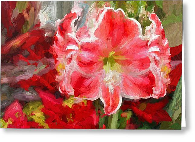 Phipps Conservatory Greeting Cards - Christmas Lilies Greeting Card by Digital Photographic Arts